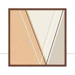 Quadro Cortês triangular I por Larissa Ferreira
