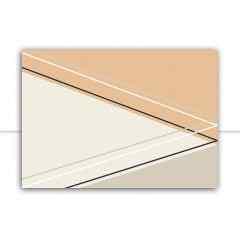 Quadro Cortês triangular II por Larissa Ferreira