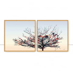 Quadro Dry tree DIPTICO I e II por Joel Santos