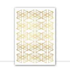Quadro Encontro Triangulares Branco por Larissa Ferreira