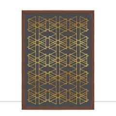 Quadro Encontro Triangulares Preto por Larissa Ferreira