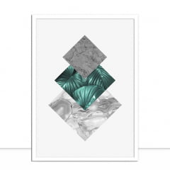 Quadro Floral e geométrico III por Vitor Costa