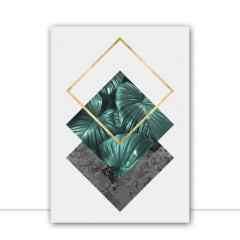 Quadro Floral e geométrico por Vitor Costa