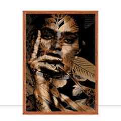 Quadro Foliage Gold Woman I por Joel Santos