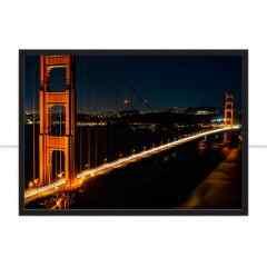 Quadro Golden Gate Bridge a noite por Tiago Ignowski