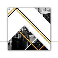 Quadro Ilusion Abstract Gold I por Joel Santos