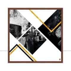 Quadro Ilusion Abstract Gold II por Joel Santos