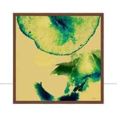 Quadro Ilusion watercolor Green II por Joel Santos
