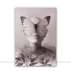 Quadro Lilac Woman P&B por Joel Santos