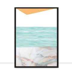 Quadro linha costeira B por Larissa Ferreira