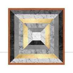 Quadro Linhas Douradas III por Vitor Costa