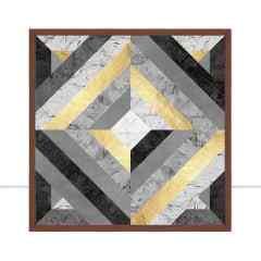 Quadro Linhas Douradas V por Vitor Costa