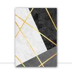 Quadro Linhas Douradas VI por Vitor Costa