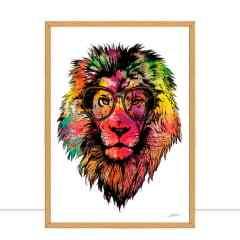 Quadro Lion  Multicolours II por Joel Santos
