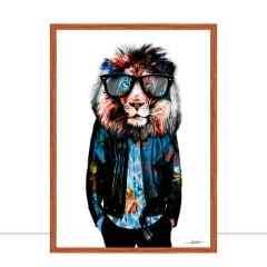 Quadro Lion Style Glasses por Joel Santos