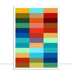 Quadro Padrão colorido V por Vitor Costa