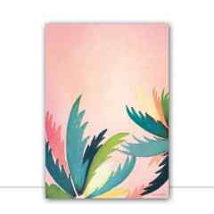 Quadro Palm Tree Coral por Bruna Deluca