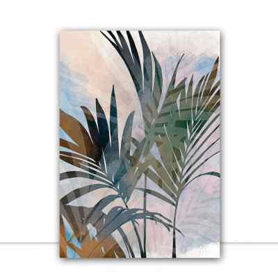 Quadro Tropical Strokes 1 por Natália Decarle