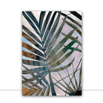 Quadro Tropical Strokes 2 por Natália Decarle