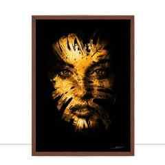 Quadro X woman Gold III por Joel Santos